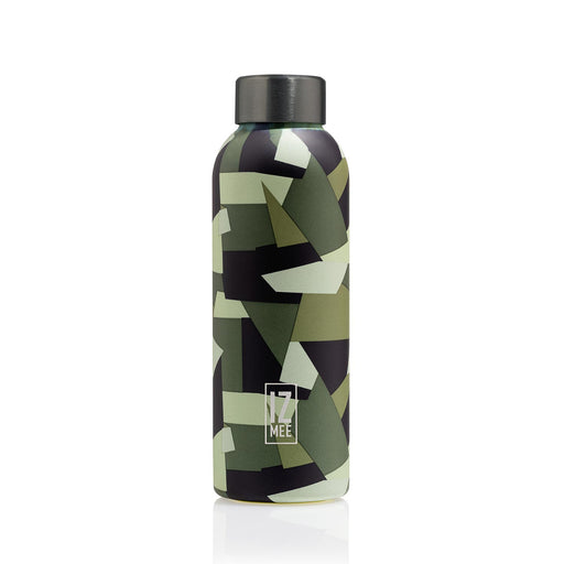 izmee thermo water bottle jungle army green