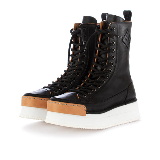 bng real shoes womens boots la rock black