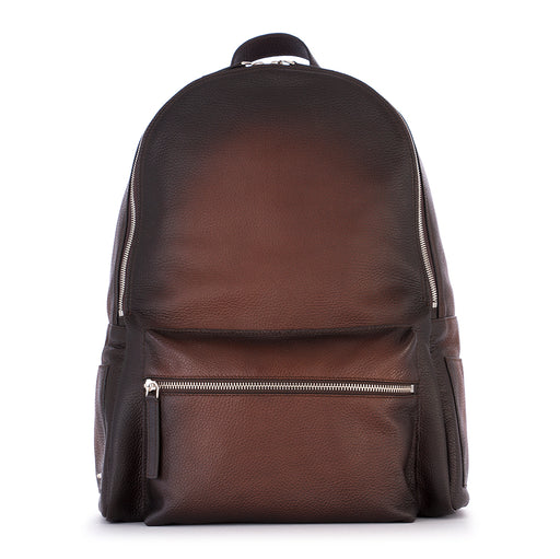 ORCIANI mens brown dark brown shaded Backpack