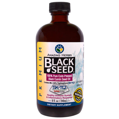 Amazing Herbs Black Seed 100% Pure Cold Pressed 240 ml