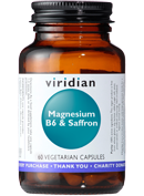 Viridian Magnesium, B6 and Saffron 60 caps