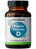 Viridian Organic Vitamin D2 400IU 60 Caps - Buy Healthy All Natural Vitamins Supplements