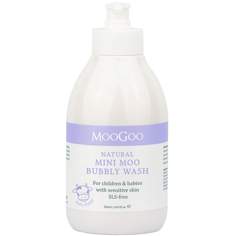 MooGoo Natural Mini Moo Bubbly Wash 500ml