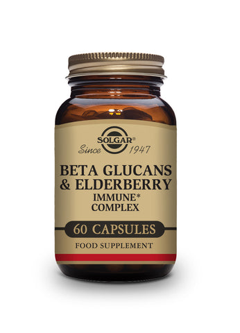 Solgar Beta Glucans & Elderberry Immune Complex Vegetable Capsules - Pack of 60