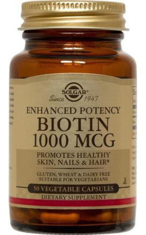 Solgar Biotin 1000 Vegetable Capsules