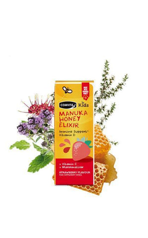 Comvita Kids Manuka Honey Elixir with Vit C,D and Marshmallow 100ml