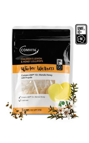 Comvita Manuka Children's Lemon & Honey 10 Lollipops