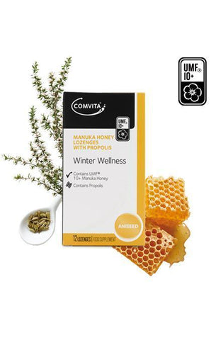Comvita Manuka Honey & Propolis Lozenges - Aniseed 12 lozenges