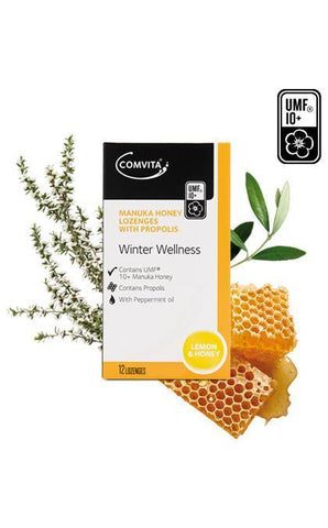 Comvita Manuka Honey Propolis Lemon 12 Lozenges
