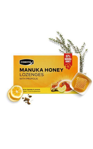 Comvita Manuka Lemon & Ginger Manuka Honey 8 Lozenges