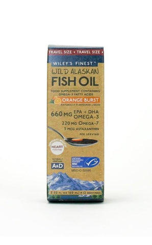 Wileys Finest Wild Alaskan Fish Oil Orange Burst