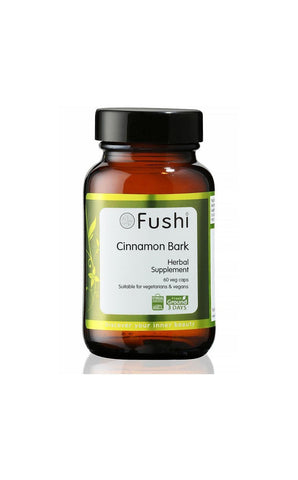 Fushi CINNAMON BARK CAPSULES, ORGANIC FRESH-GROUND 60 CAPS