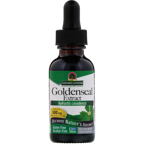 Goldenseal Extract, Alcohol Free, 500 mg, 1 fl oz (30 ml