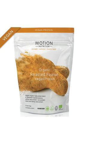 Motion Nutrition Organic Roasted Peanut Vegan Protein 400g – 16 servings