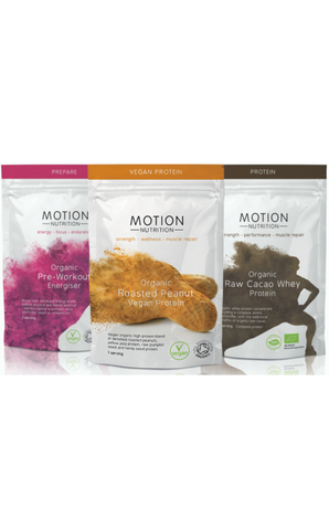 Motion Nutrition Organic Supplements Trial Pack