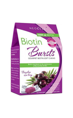 Neocell Biotin Burst - Acai Berry 10,000mg 30 Chews