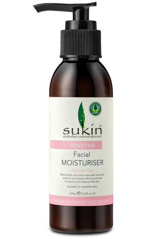 Sensitive Facial Moisturiser 125ml - Natural sensitive skin moisturiser