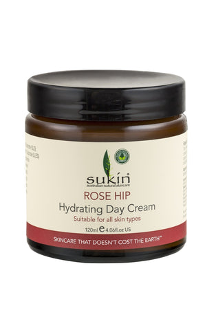 Sukin Rose Hip Hydrating Day Cream 125ml- Natural Face Moisturiser