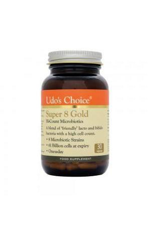 Udo's Choice Super 8 GOLD - Hi-Count Microbiotics - NEW