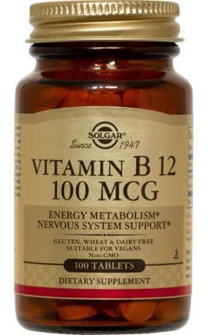 Solgar Vitamin B12 100 åµg Tablets