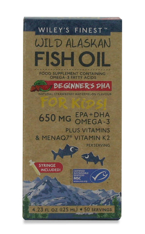 Wileys Finest Fish Oil Beginners 650MG EPA+ DHA Omega