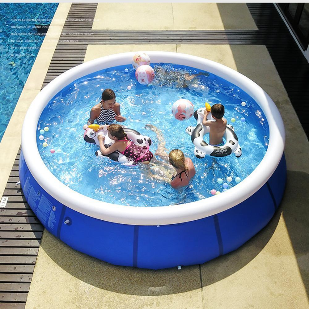 Remishoes Outdoor Inflatable Swimming Pool Anti-exposure Anti-crack Round Family Water Park Pool for Children Adults