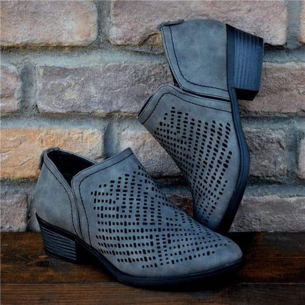 Remishoes Textured Laser Cut Booties(Ship In 24 Hours)