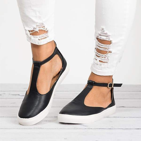 Remishoes Miss T-Strap Sneakers