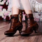 Remishoes Women'S Stiletto Heel Spring/Fall Lace-Up Boots
