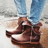 Remishoes Zipper Casual Retro Boots