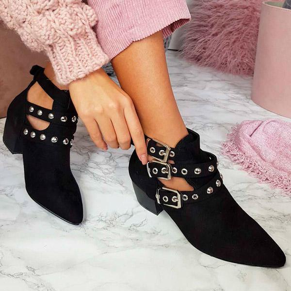 Remishoes Imogen Buckle Ankle Boots