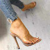 Remishoes Fashion Transparent High Heel Sandals