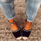 Remishoes Chic Flats Adjustable Buckle Sandals