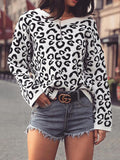 Remishoes V-Neck Print Pullover Casual Sweater