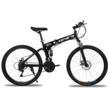 Remishoes Dual Disc Brakes Shock Speed Mountain Bike Folding Bicycle 26 inch