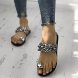 Remishoes Womens Shiny Toe Ring Flat Slippers(Ship In 24 Hours)