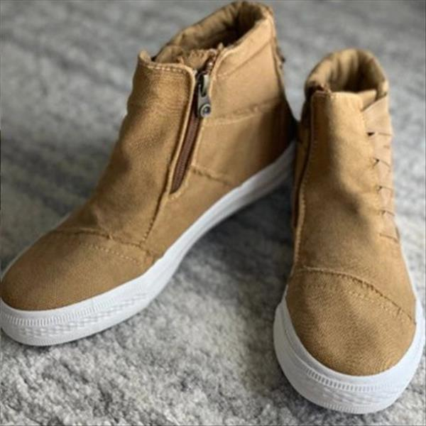 Remishoes Casual Daily High Top Stylish Flat Sneakers (Ship in 24 Hours)