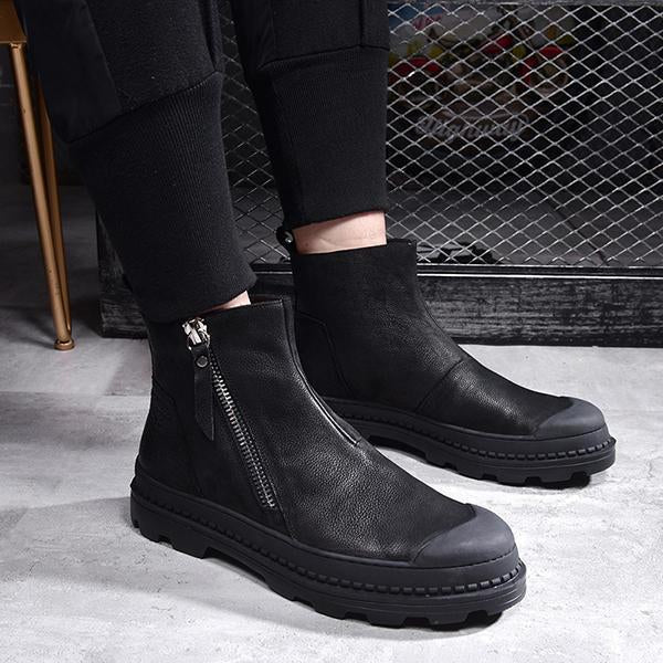 Remishoes Women Casual Zipper Sneakers Ankle Boots