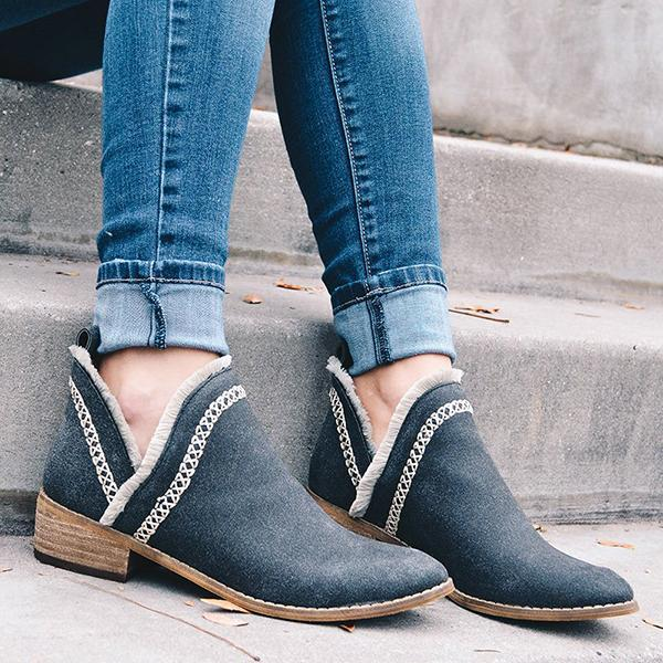 Remishoes Women Slip-On Casual Ankle Boots