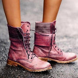 Remishoes Classic Lace-Up Low-Heel Buskins Martin Boots