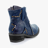 Remishoes Vintage Zipper Boots Fashion Block Heel Boots