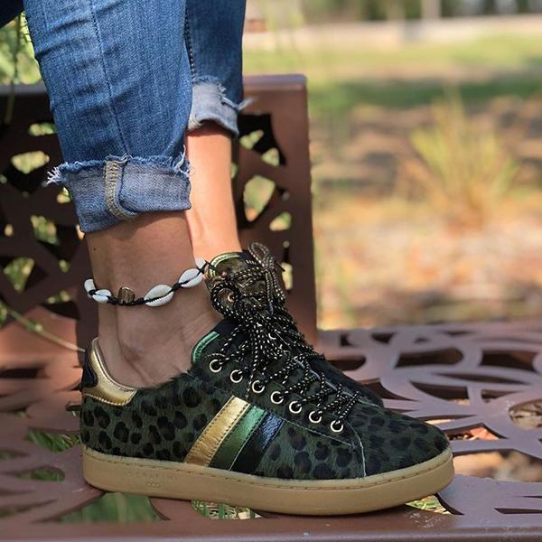 Remishoes Fashion Stylish All Season Mohair Leopard Sneakers