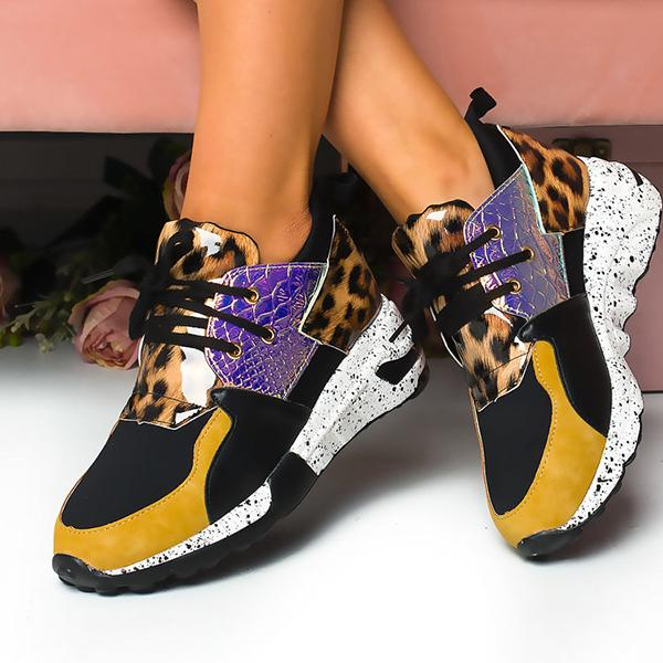 Remishoes Fashion Colour Block Chunky Sneakers