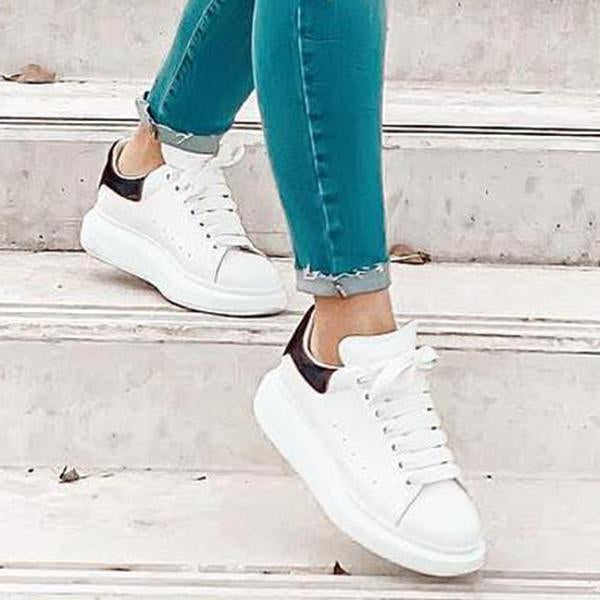 Remishoes Lace Up White Sneakers