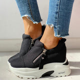 Remishoes Zipped Design Platform Casual Sneakers