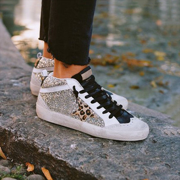 Remishoes Daily Shiny Lace Up Sneakers