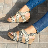 Remishoes Daily Casual Buckle Straps Wedge Sandals