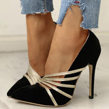 Remishoes Glitter straps Pointed Toe Thin Heels