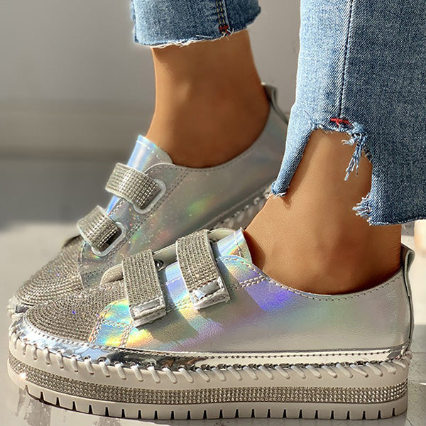 Remshoes Colorful Studded Insert Sequins Sneakers