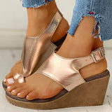 Remishoes Toe Ring Cutout Slingback Sandals